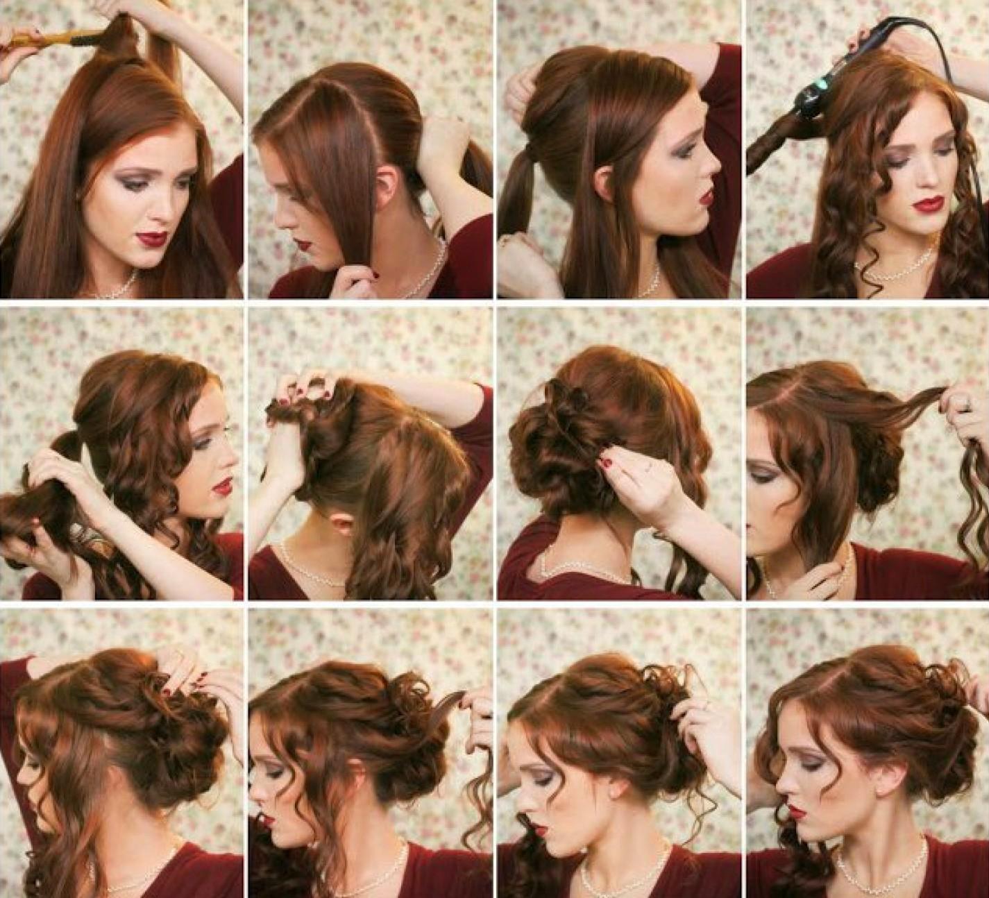 Прически на себе длинные волосы во сне