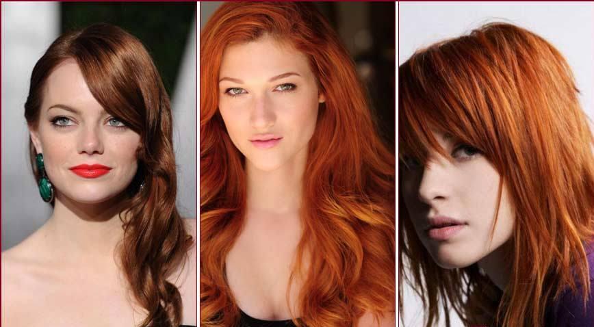 Красивые причёски для рыжих волос