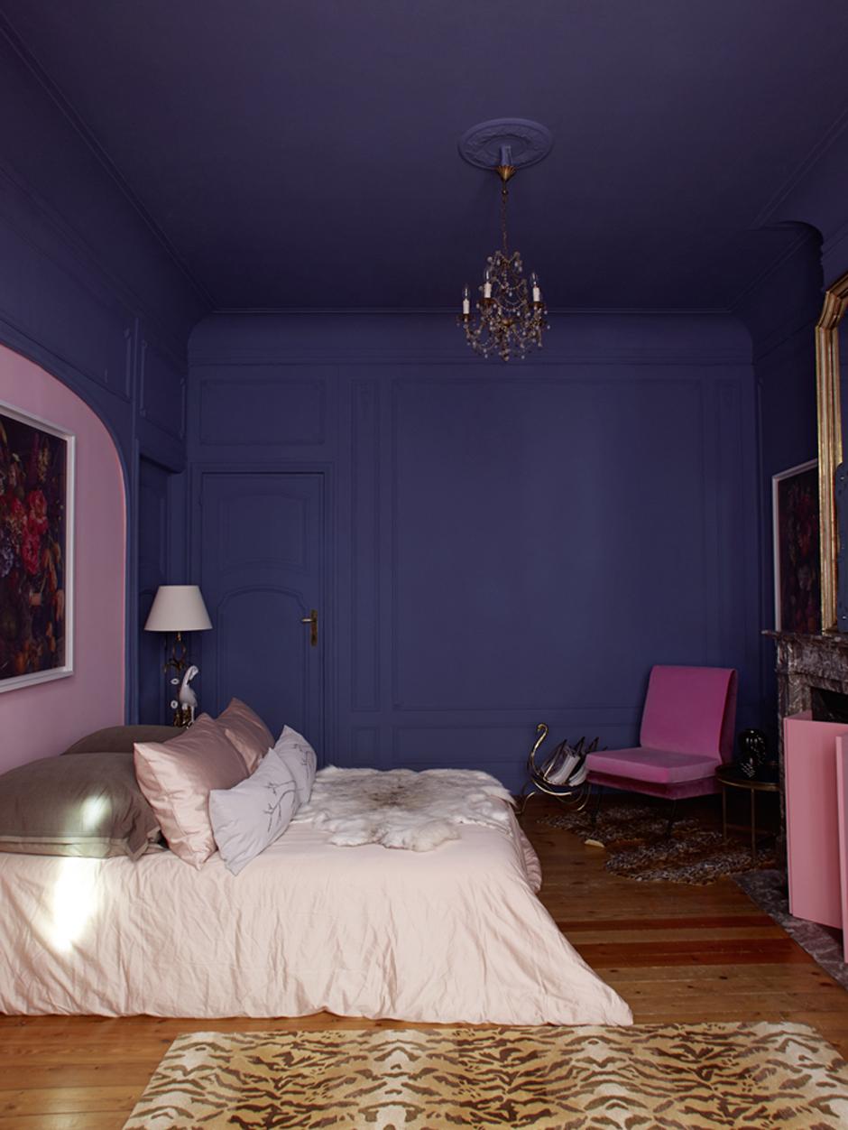 In Ihrem Schlafzimmer Kombinierte Maryam Einen Zarten Lavendel Mit Einem  Puderrosa   Und Diese Farben Verstanden Sich Offenbar Gut Miteinander.
