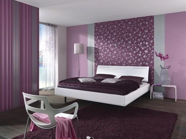 Fantastisch Aber Das Schlafzimmer In Lila Tönen Zeichnet Sich Durch Eine Besondere  Kühle, überraschende Ruhe Aus, Die Sich Günstig Auf Die Schlafqualität  Auswirkt.