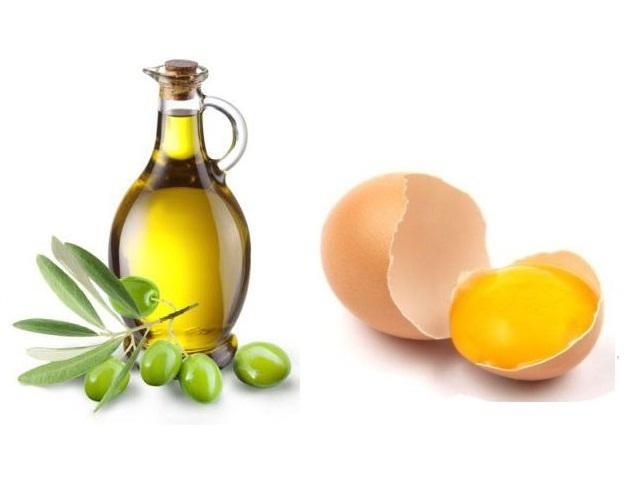 Маска с желтком и оливковым маслом