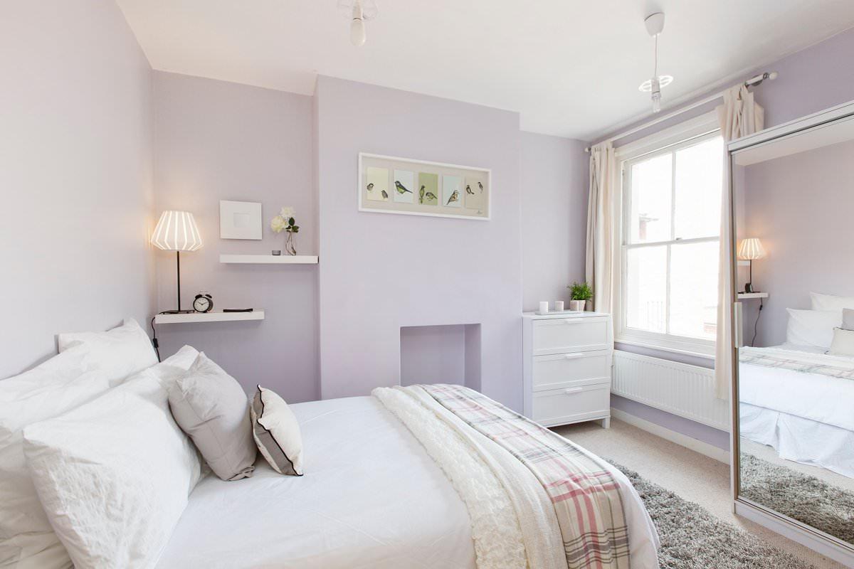 Ein Schlafzimmer Für Ein Paar Kann Entspannter Aussehen. Wählen Sie Warme  Farbtöne: Beige, Creme, Pfirsich, Fügen Sie Schleier Und Vorhänge Mit ...
