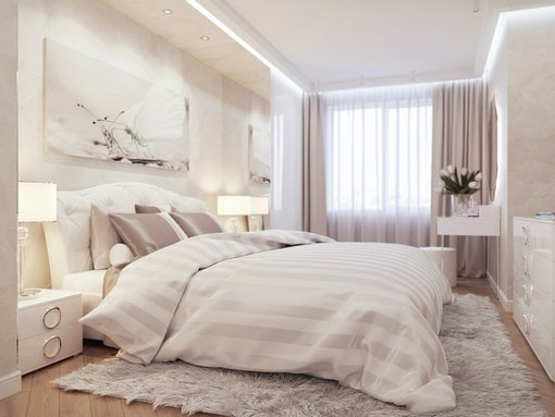 идеи дизайна спальни в пастельно голубых тонах спальня в нежно