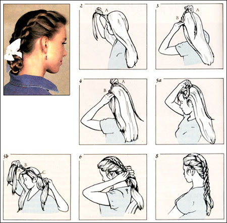 Как сделать себе косу жгут 987